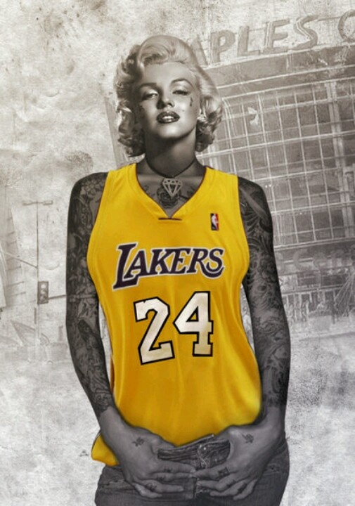 Marilyn lakers dope pinterest girls love this and for Laker tattoo designs