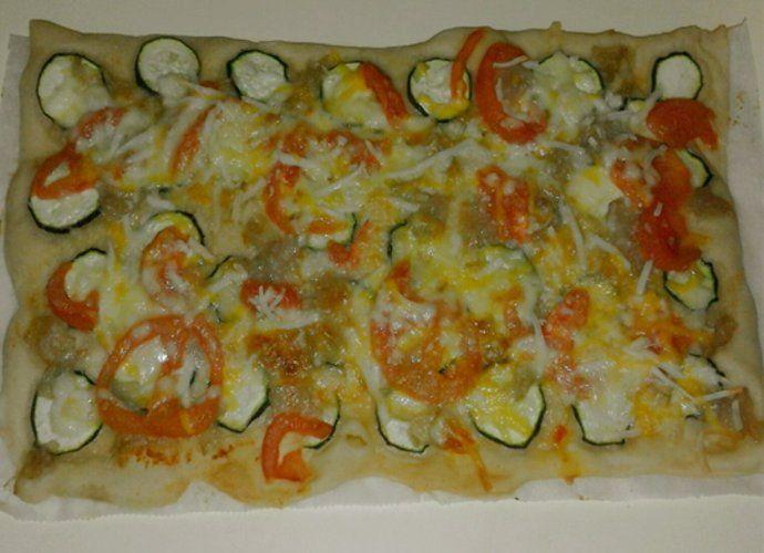 Pizza de espelta con verduras para #Mycook http://www.mycook.es/cocina/receta/pizza-de-espelta-con-verduras
