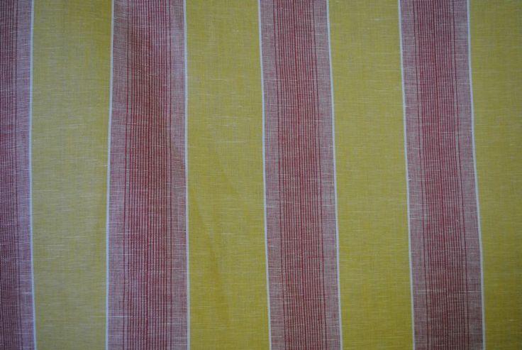 Tuscan Stripe Ocher showing stripe repeat