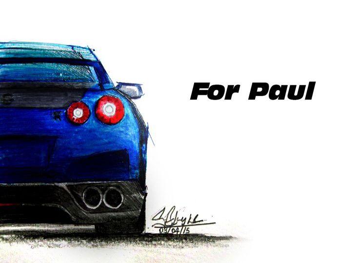 Paul Walker Tribute Nissan GTR R35