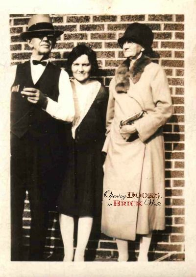 The photographs I'm sharing today were taken with a brick wall as the backdrop. #genealogy #oldphotographs #detroit