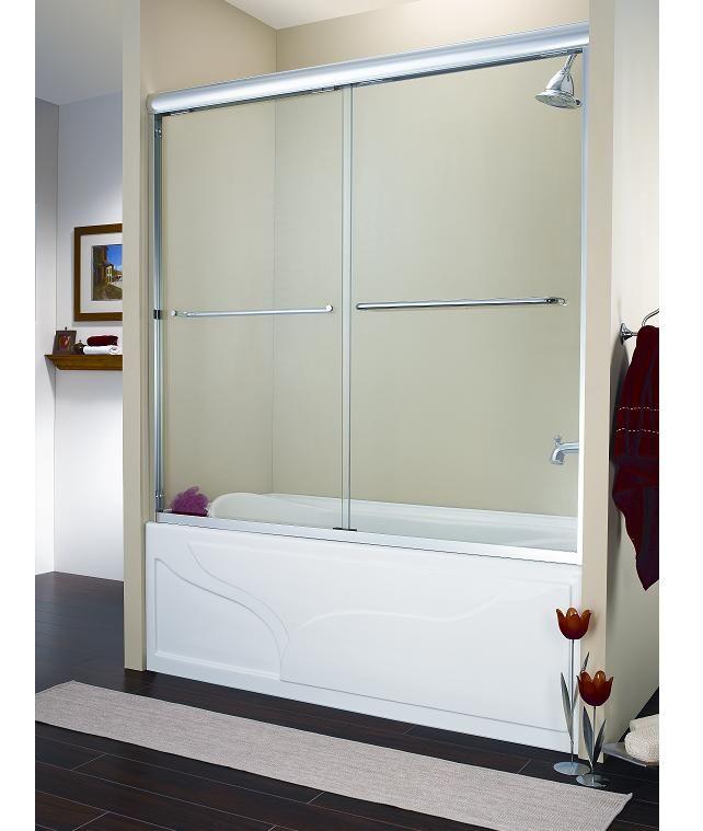 Sliding doors on tub home pinterest sliding doors for Sliding glass doors tub