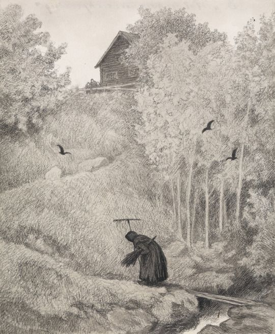 The Black Death,'Mother there comes a bitch'  - Theodor Severin Kittelsen   1900