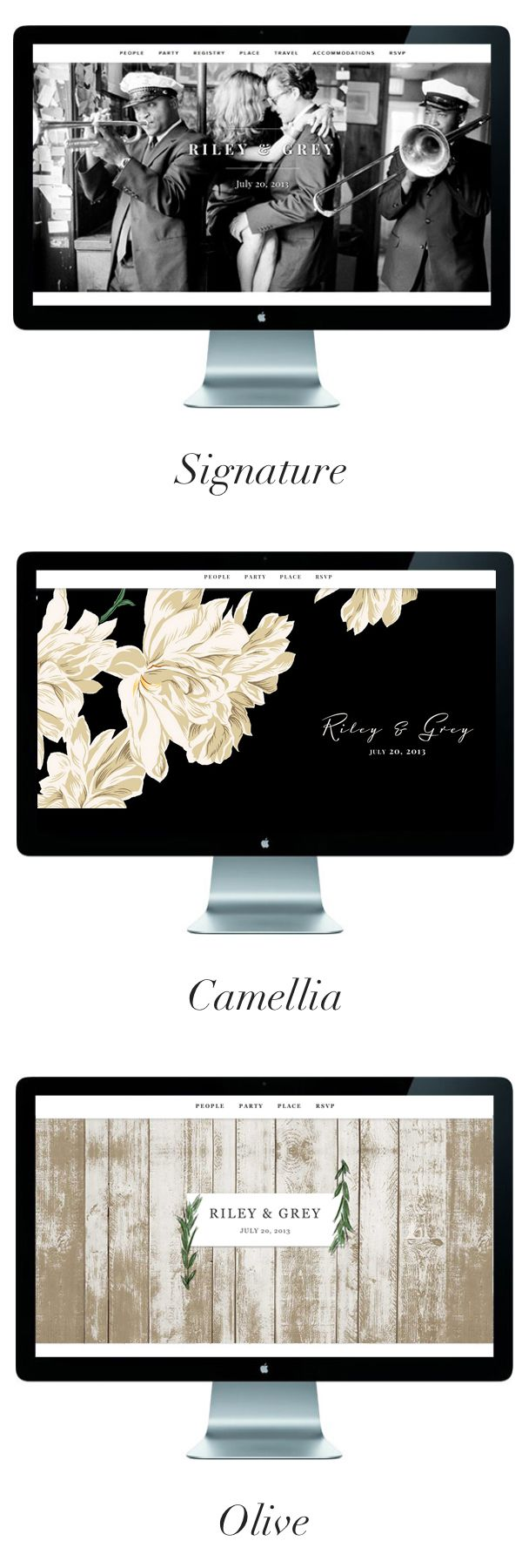 Favorite limited edition wedding websites {gorgeous}