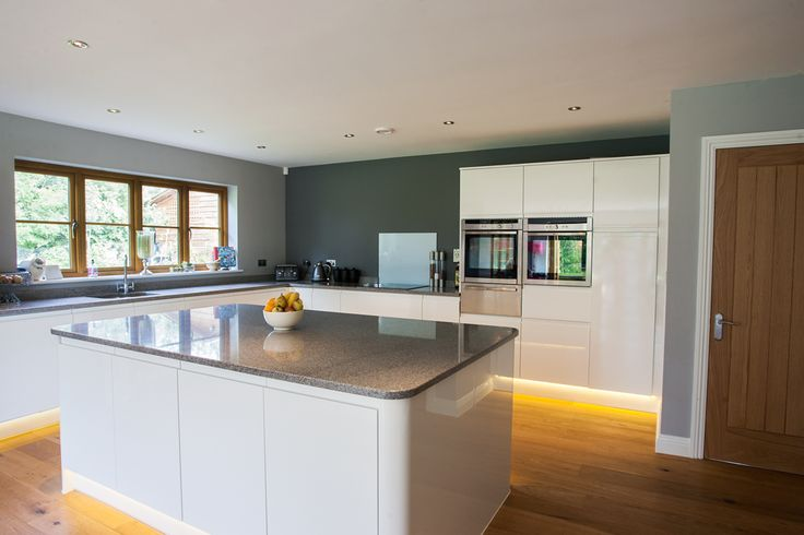 207 best images about kitchen on pinterest farrow ball for Grey kitchen white worktop