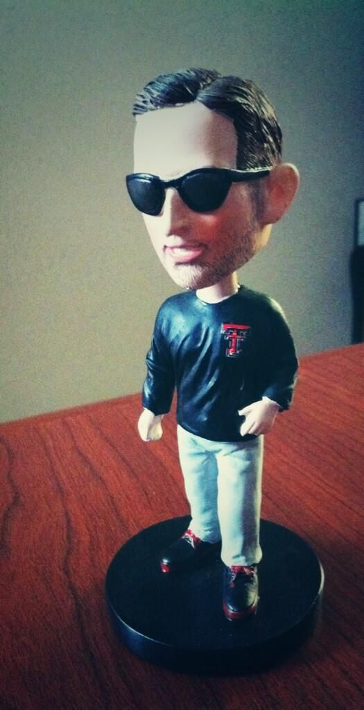 Photo: Kliff Kingsbury's bobblehead doll has too much swag