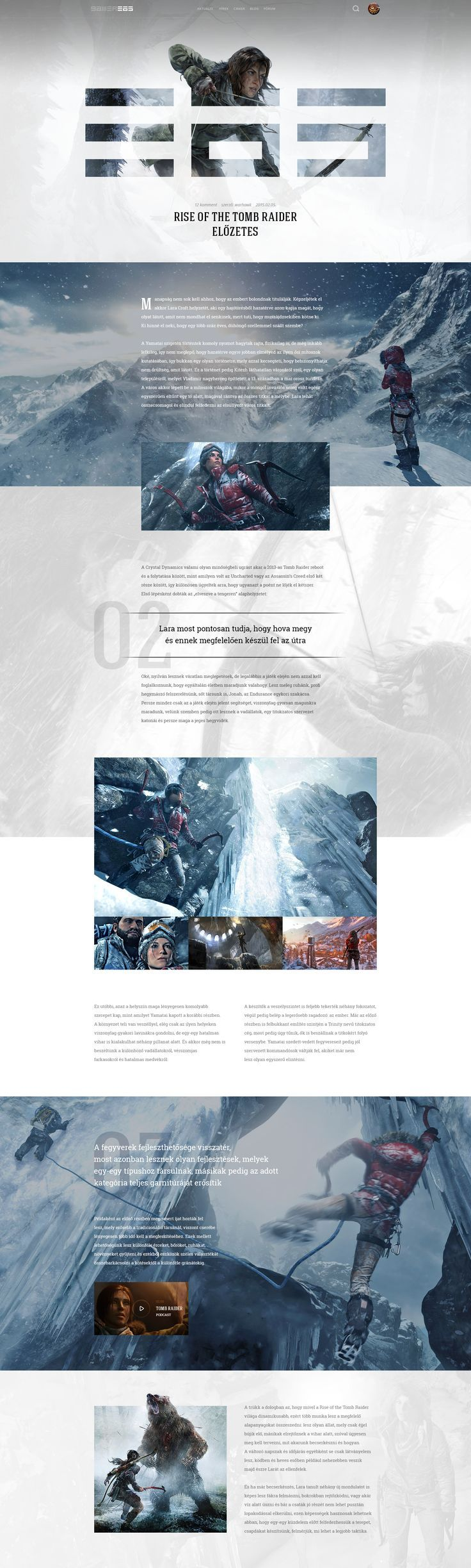Dribbble - 365-rise-layout-rise-of-the-tomb-raider-hellowiktor.png by Viktor Vörös