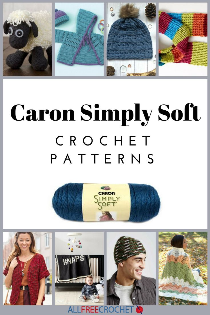 24 Caron Simply Soft Crochet Patterns | crochet fun | Pinterest