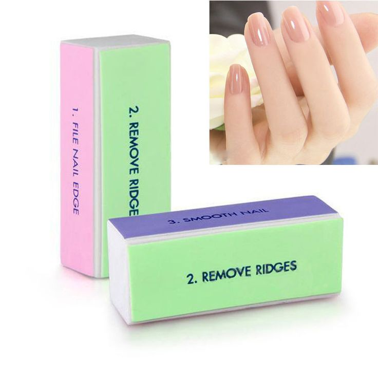 4pcs New Nail Art Polisher 4 Ways Manicure Nail Art Tips Sanding Polish Buffer Block Shiner