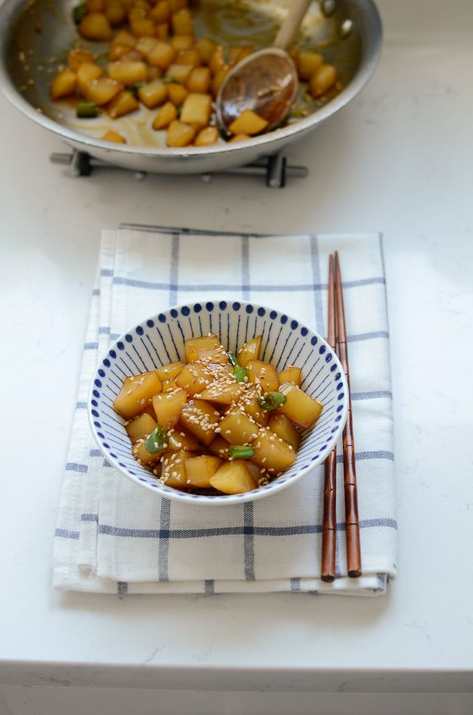15 best korean side dishes images on pinterest korean food recipes gamja jorim is popular korean potato side dish you can make with only a few ingredients forumfinder Choice Image