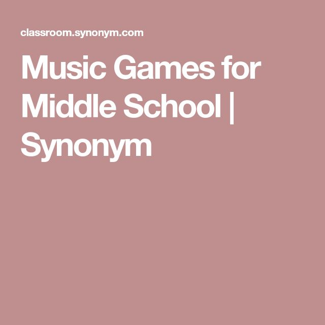 Music Games for Middle School | Synonym