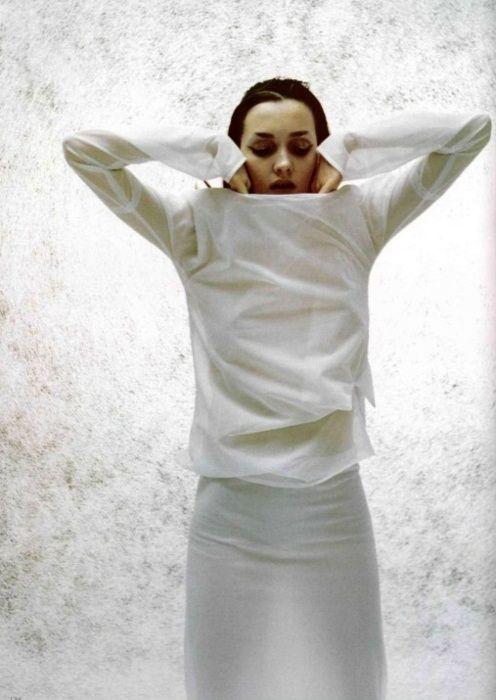 . . . .Minimal White, Winter White, Sander Nylons, Sander Spring, Jersey Shirts, Spring 1998, Thomas Krappitz, Nylons Jersey, Jil Sander 1998