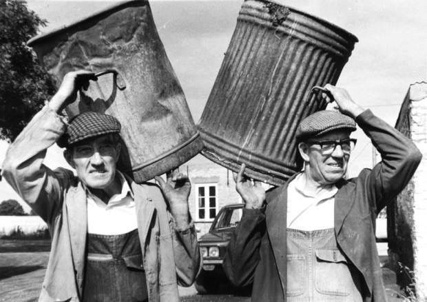 Our bin men would go round the back of our house and lift our bin and they were always cheerful !