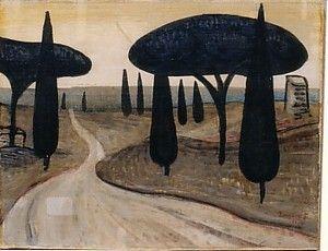 Zrzavý (1934) Via Appia 27 x 35 (Tempera a olej na plátně)