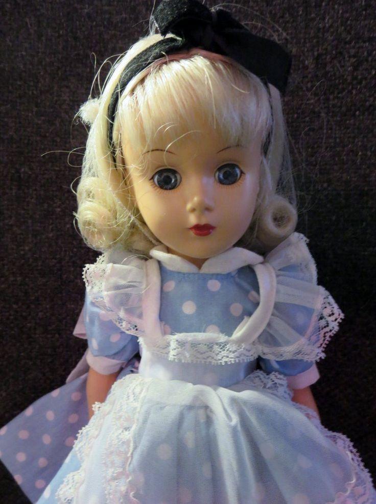 "2000 RARE Madame Alexander 14"" Hard Plastic Alice in Wonderland Doll Tagged | eBay"