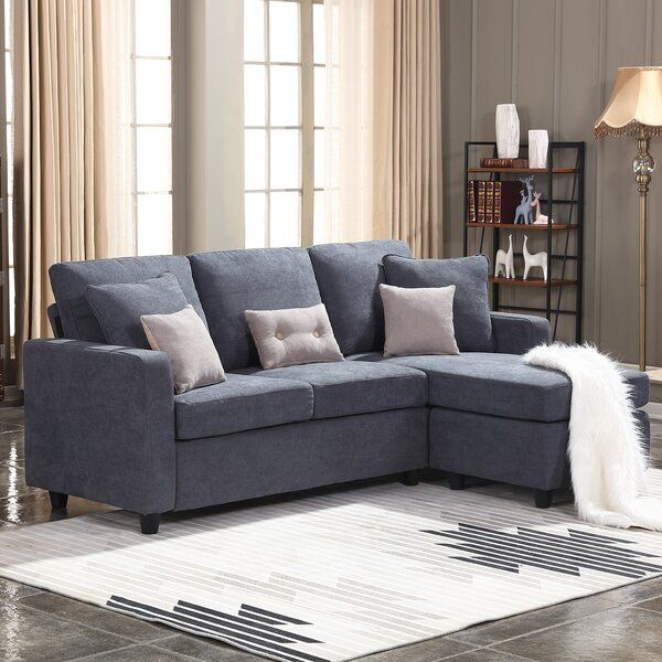 Sylvette 78 5 Reversible Sofa Chaise With Ottoman In 2020 Sectional Sofa Couch L Shaped Couch Sectional Sofa