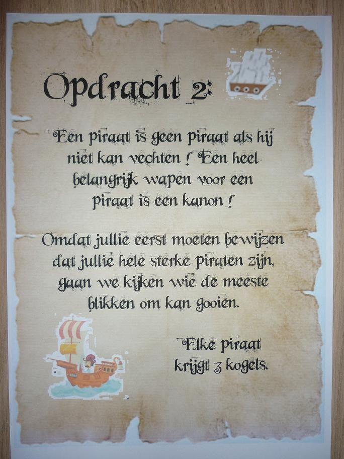 Piratentocht, Opdracht 2. -CE-