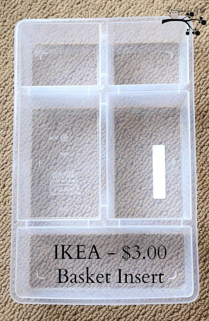 I need to make an IKEA run for some of the basket organizers.  I think they'd be great for organizing my bathroom drawers which is on the to-do list for SOON.