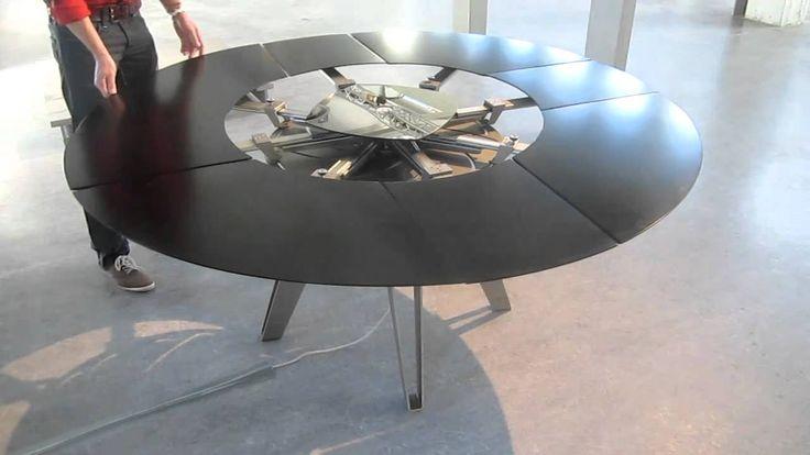 Fade expanding table beemen ontwerpen sander van beemen for Jupe mechanism