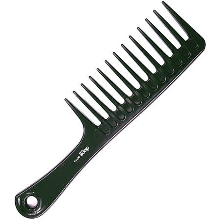 """Diane Extra Wide Tooth Handle Comb Black - 9 3/4"""" #D7113 $1.79 Visit www.BarberSalon.com One stop shopping for Professional Barber Supplies, Salon Supplies, Hair & Wigs, Professional Product. GUARANTEE LOW PRICES!!! #barbersupply #barbersupplies #salonsupply #salonsupplies #beautysupply #beautysupplies #barber #salon #hair #wig #deals #sales #diane #extrawide #tooth #handle #comb #black #d7113"""