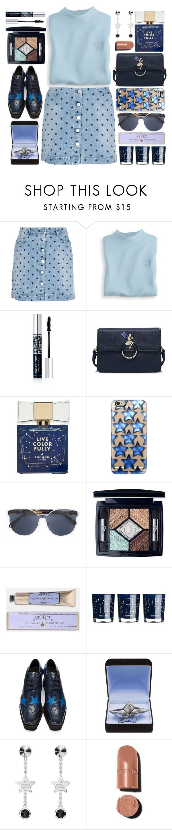 """""""Star"""" by grozdana-v ❤ liked on Polyvore featuring STELLA McCARTNEY, Blair, Christian Dior, Kate Spade, Casetify, Karen Walker, Soap & Paper Factory, Miller Harris, Thierry Mugler and Gucci"""