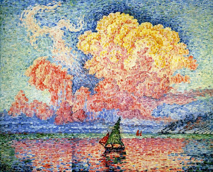 Paul Signac, French 1916. Displayed near Monet's Water Lilies. It looks like he took the edge of the paint brush to make each point. MFA.