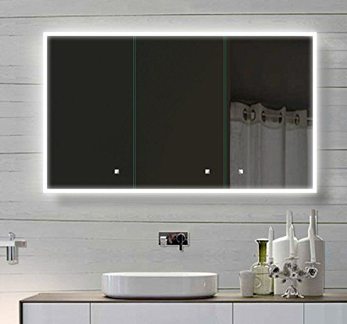 Alu Badschrank badezimmer spiegelschrank bad LED Beleuchtung 120 x