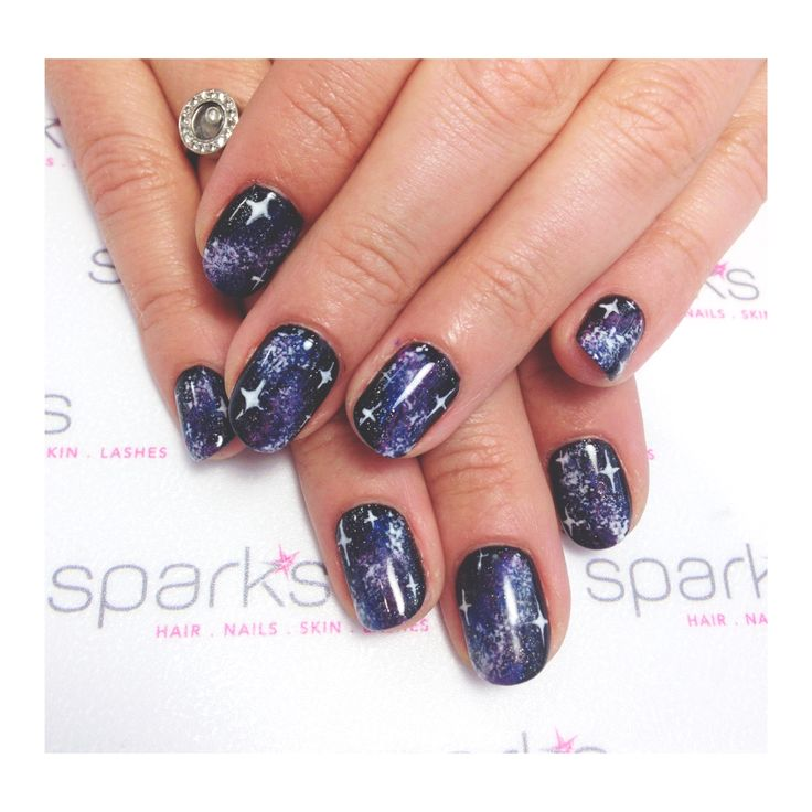 Full on Galaxy nails ... If you're gonna do it, do it all the way! #nailart #nails #galaxy #naildesign