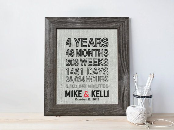 11th Wedding Anniversary Gift Ideas For Men: Best 25+ 4th Anniversary Gifts Ideas On Pinterest