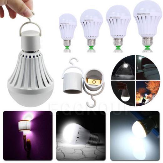 1~10x Led E27 7/9/12w Emergency Light Bulb Rechargeable Intelligent Lamp W/ Hook (european Medium) China Globe Smd 5730 110v 220v 86-265v/ac