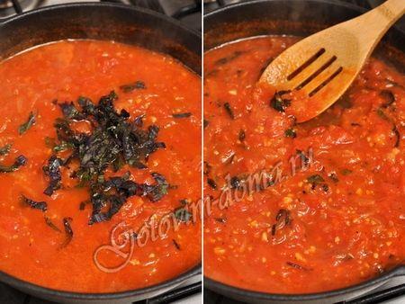 Паста с баклажанами в томатном соусе фото 6