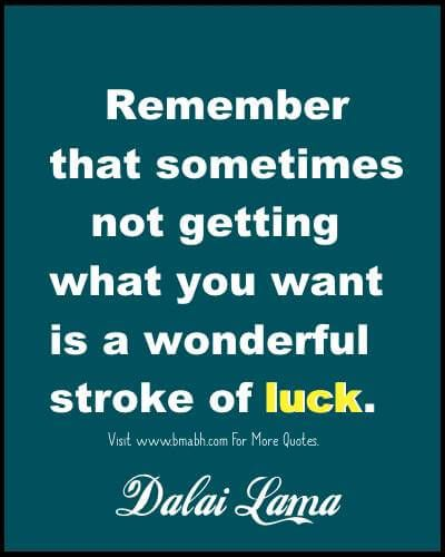 Luck Quotes- Inspirational Quotes About Luck