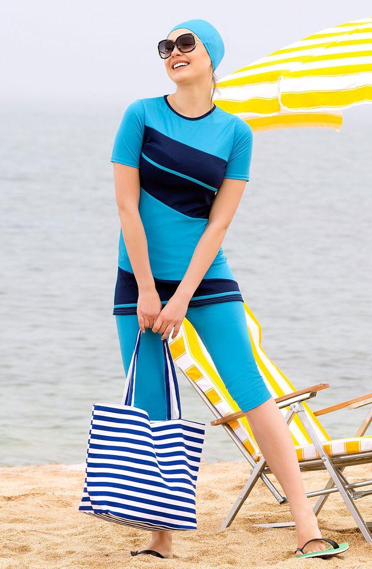 Marina Yarım Kapalı Mavi Mayo 1111