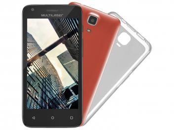 "Smartphone Multilaser MS45 Colors 8GB Dual Chip 3G - Câm. 5MP Tela 4.5"" Proc. Quad Core Android 4.4"