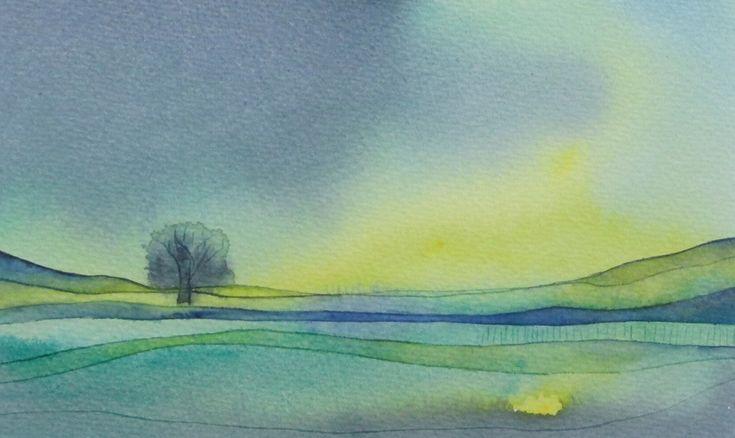 De eenzame boom Het mysterieuze zonlicht dat het landschap zijn eigen kleuren geeft. De eenzame boom denkt er het zijne van. Agnes van Eupen