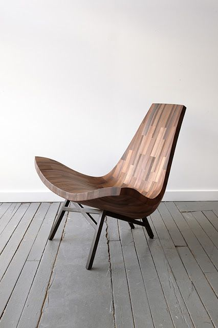 Wonderful elegant 'water tower' chair by Bellboy made from reclaimed timbers of a New York City Water Tower. BELLBOY is a collaborative wood workshop based in New York