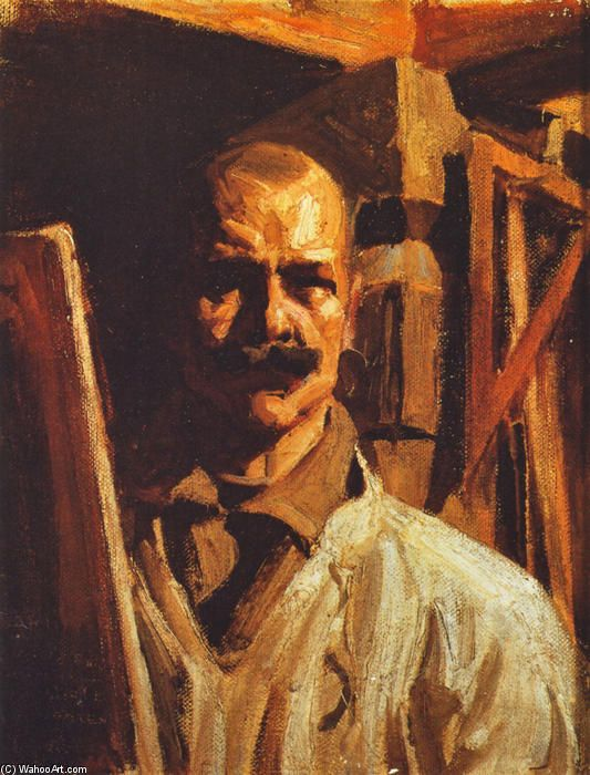 Finnish artist AKSELI GALLEN-KALLELA,Self-Portrait (1916)