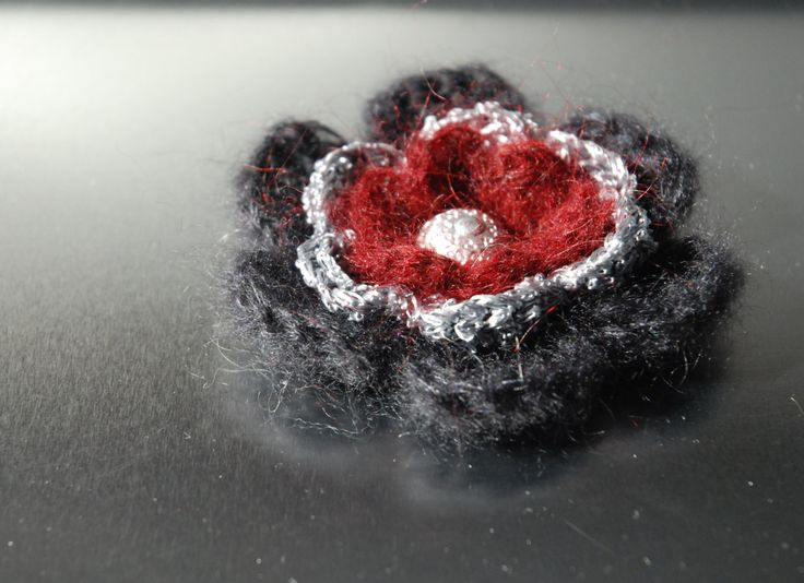 Flower Brooch, Crochet Brooch, Crochet Flower Brooch, Fabric Brooch, by aboutCRAFTS on Etsy
