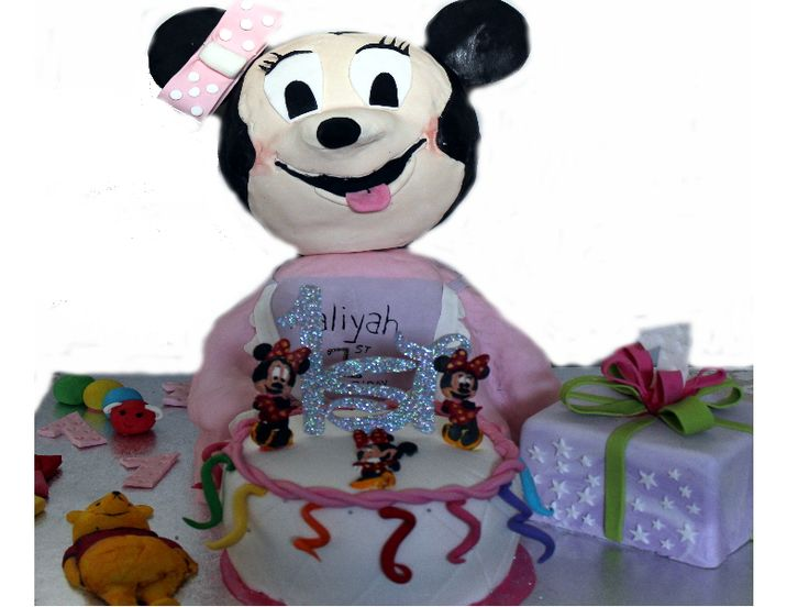 3d mini mouse cake