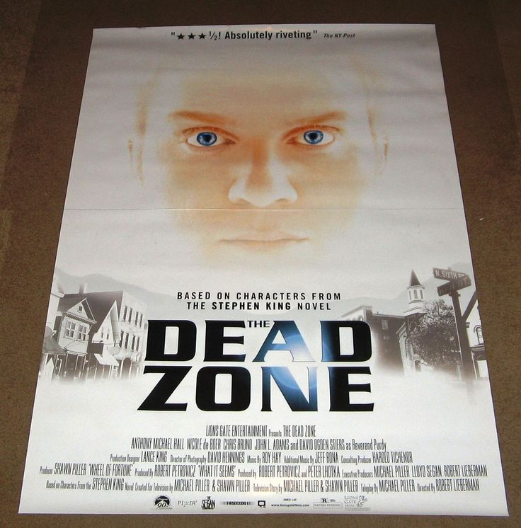 The Dead Zone Movie Poster 27x40 Stephen Kind Christopher Walken Used
