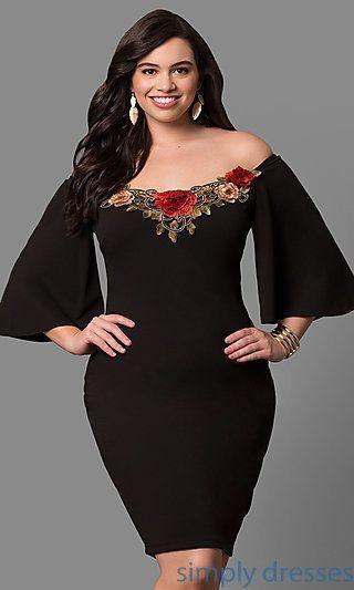 Shop Short Black Plus Size Party Dresses At Simply Dresses Cheap