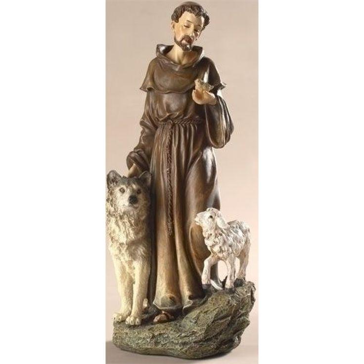 Saint Francis 9.75inch Figurine By Joseph's Studio - JOSEPH STUDIOS - Religious Figurines - COLLECTABLES