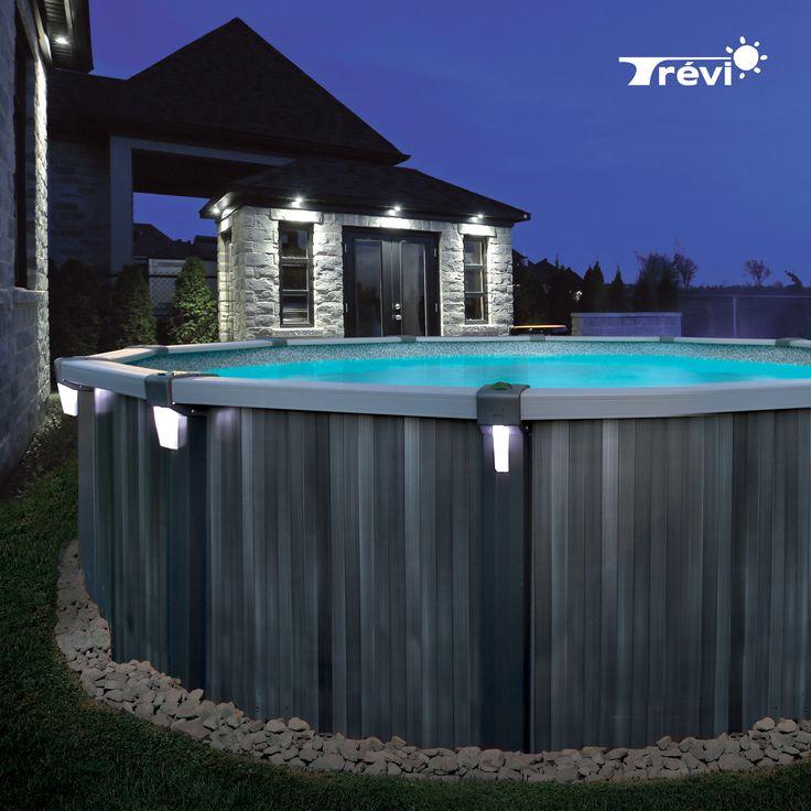 La piscine Trévi Pulsar est composée d'un heureux mélange d'acier et de résine pour une durabilité à toute épreuve, le tout reposant sur un rail secur-lock d'une grande stabilité, une exclusivité trévi. avec ses margelles de 7 pouces en résine, petits et grands y trouveront une source de plaisir sans cesse renouvelée.
