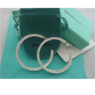 Tiffany & Co. > Earrings > Tiffany Hoop Earrings (Silver) - LockTrendy Fashion Discount Store