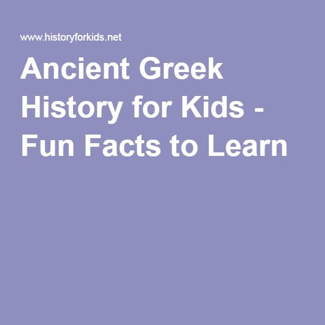 Ancient Greek History for Kids - Fun Facts to Learn
