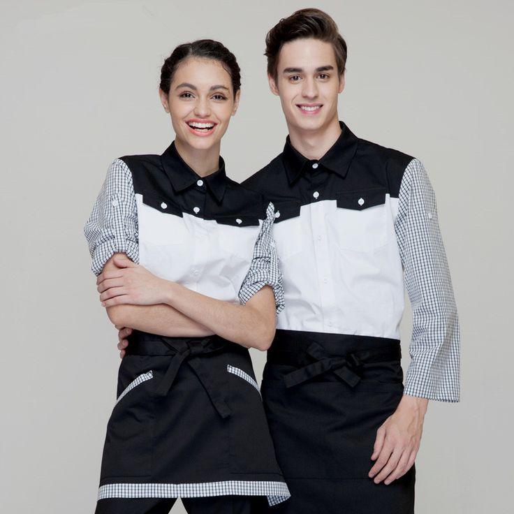 Woman/man coffee shop restaurant hotel bakery pizza shop fruit juice shop bar waiter shirt uniform work ware work clothes(China (Mainland))