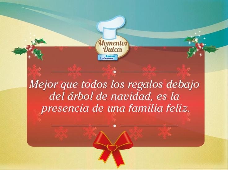 """Frases De Familia: """"Mejor Que Todos Los Regalos Debajo Del árbol De Navidad"""