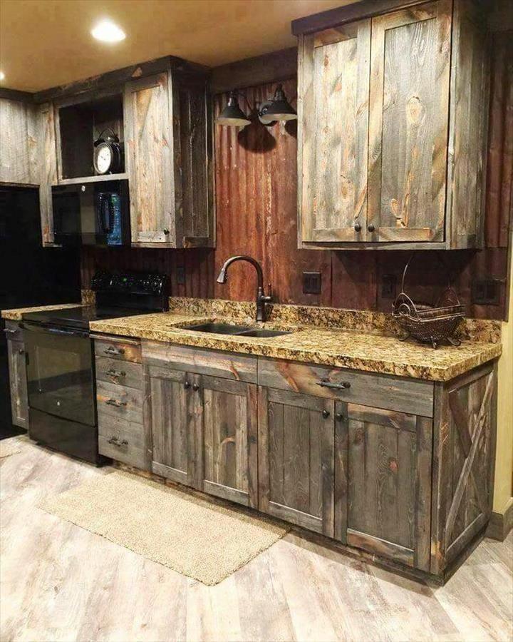 Kitchen Cabinets Done With Pallets 20 Best Pallet Ideas To Diy Your Own Pallet Furniture Diy C Diy Pallet Furniture Barn Wood Decor Rustic Kitchen Design