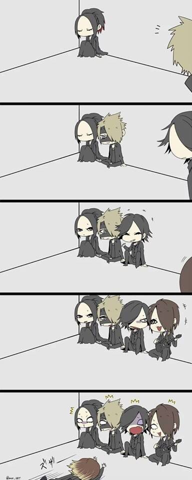 Ruki. Reita. Aoi. Uruha and Kai. the GazettE. Ohmigosh! Kai at the end! Lol! >ω<