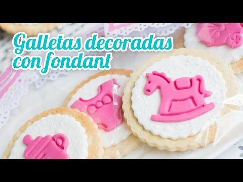 Galletas de mantequilla decoradas | #15 Mesa dulce para Baby Shower | Quiero Cupcakes! - YouTube
